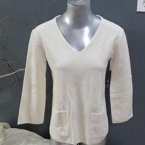 Nice & Zoe V-neck 3/4 Sleeve Sweater Size XS